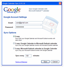 Google Calendar to Outlook