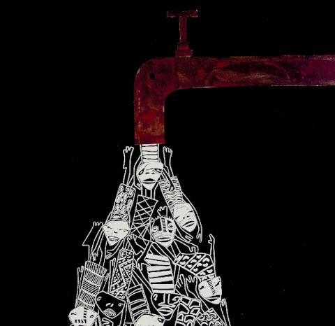 Exit, salida: xilografía en evolución y collage