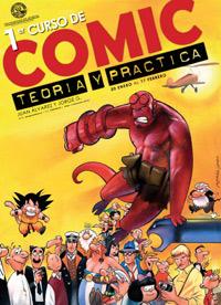 Cartel del I Curso «Cómic: teoría y práctica», impartido por Jorge G y Juan Álvarez en la Facultad de Bellas Artes de la Universidad de Murcia