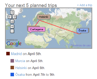Cartagena-Murcia-Madrid-Helsinki-Osaka-Nara-Tokio-Kobe-Kyoto-Osaka-Helsinki-Madrid-Murcia-Cartagena