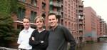 Los fundadores de Bab.la: Andreas Schroeter, Thomas Schroeter y Patrick Uecker.