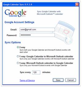Google Calendar to Outlook