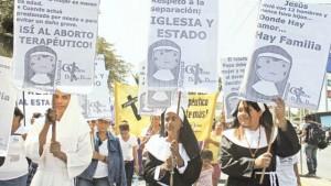 Marcha en Managua por el día de la mujer