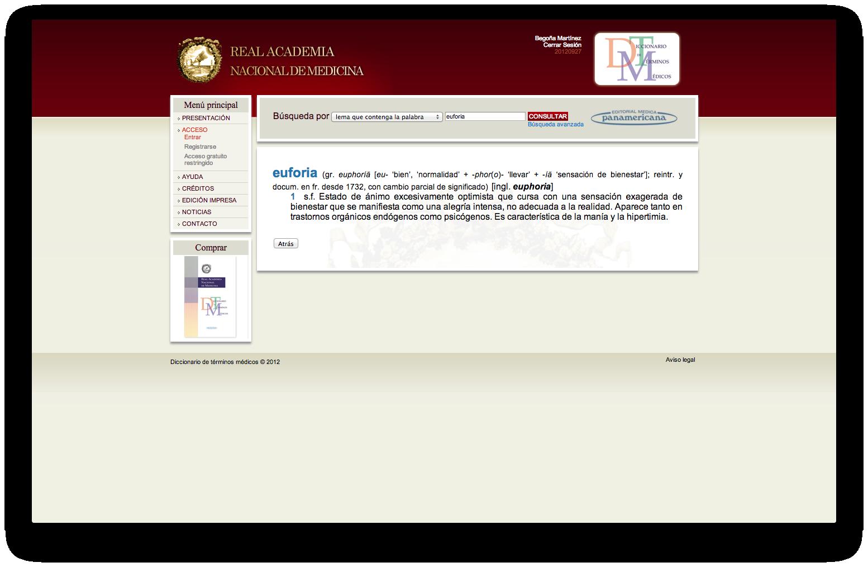 Diccionario de Términos Médicos, entrada «euforia».