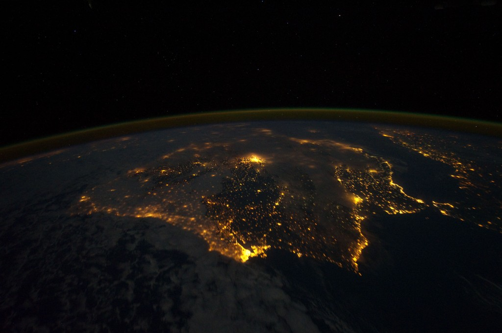 Iberian Peninsula at Night (NASA, International Space Station, 12/04/11)